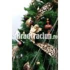 "Brad de Craciun 210 cm ""festin de ciocolata"""