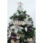 """Brad de Craciun 210 cm """"flori de gheata"""""""