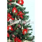 "Brad de Craciun 210 cm ""Venetia in rosu"""