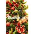 "Brad de Craciun 210 cm ""simfonie in rosu"""