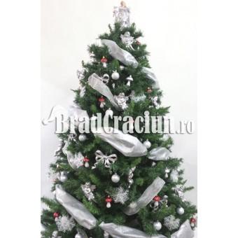 "Brad de Craciun 210 cm -""ciupercute in zapada"""