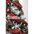 """Brad de Craciun 210 cm -""""ninsoare de matase"""""""