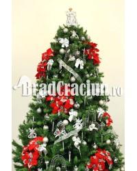 """Brad de Craciun 240 cm """"gheata cu flori"""""""