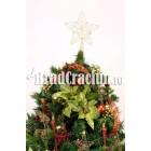 """Brad de Craciun 240 cm """"flori de steaua craciunului"""""""