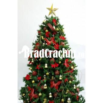 """Brad de Craciun 210 cm """"clopotei si flori de iarna"""""""