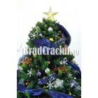 """Brad de Craciun 210 cm -""""flori pe ocean"""""""
