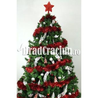 """Brad de Craciun 210 cm cu beteala """"zapada rosie"""""""