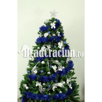 "Brad de Craciun 210 cm cu beteala ""zapada albastra"" 1"