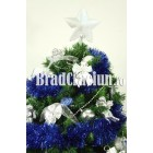 "Brad de Craciun 210 cm cu beteala ""zapada albastra"" 2"