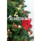 "Brad de Craciun 210 cm ""flori de iarna"""