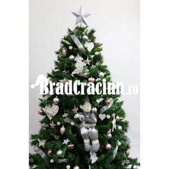 """Brad de Craciun 210 cm """"iarna pastelata"""""""