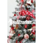 "Brad de Craciun 195 cm cu zapada ""Rosu scandinav"""
