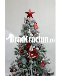 """Brad de Craciun 195 cm cu zapada """"reni scandinavi"""""""
