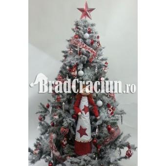 """Brad de Craciun 195 cm  cu zapada """"fetitele lui Mos Craciun"""" (scandinav)"""