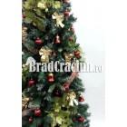 """Serie 9 buc. Brad de Craciun ingust 225 cm  """"flori de steaua craciunului TGM"""""""