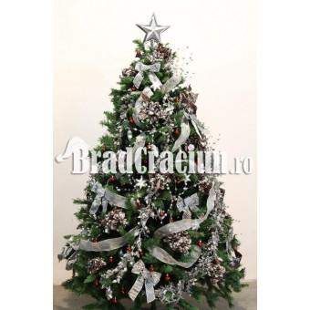 """Brad de Craciun 240 cm """"eleganta de otel"""""""