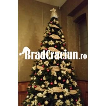 "Brad de Craciun 340 cm -""feerie aurie"""