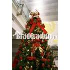 """Brad de Craciun 360 cm """"fantezie rosie 1"""""""