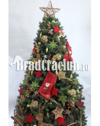 """Brad de Craciun 360 cm """"cadouri de craciun"""""""