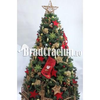 """Brad de Craciun 340 cm """"cadouri de craciun"""""""