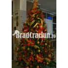 "Brad de Craciun 270 cm ""printi si flori"""