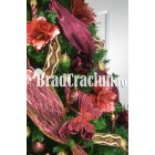 "Brad de Craciun 270 cm - ""Craciun in Burgundia"""