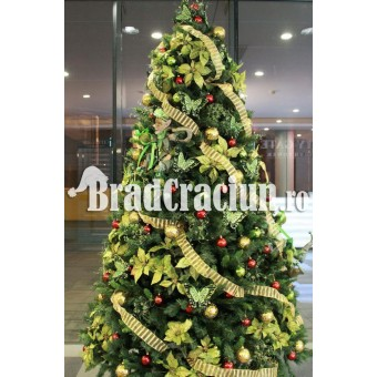 """Brad de Craciun 270 cm """"flori si fluturi"""""""