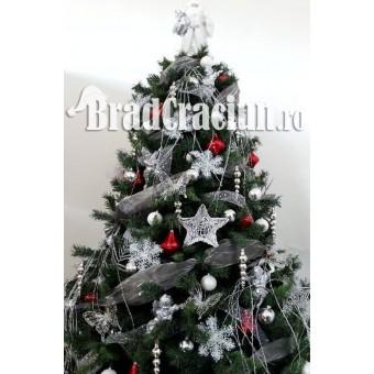 "Brad de Craciun 300 cm - ""frunze de gheata"""