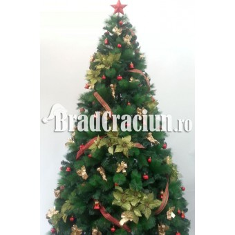 """Serie 9 buc. Brad de Craciun cu pin 300 cm  """"flori de steaua craciunului TGM"""""""