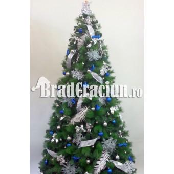 """Serie 6 buc. Brad de Craciun cu pin 300 cm  """"Feriga de zapada albastru"""""""