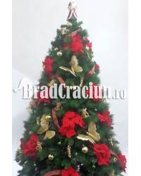 """Set 5 brazi de Craciun 150 cm  """"iarna cu flori"""""""